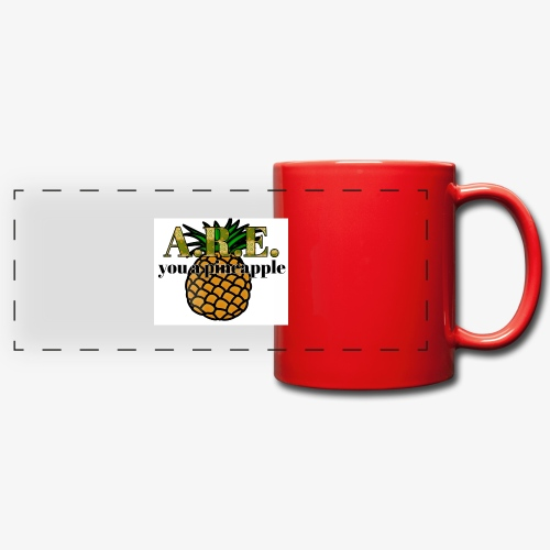 Are you a pineapple - Full Color Panoramic Mug