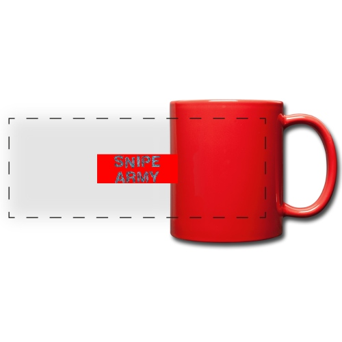 Snipe Army Box Logo - Panoramatasse farbig
