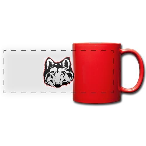 Wolfie (Red) - Full Color Panoramic Mug