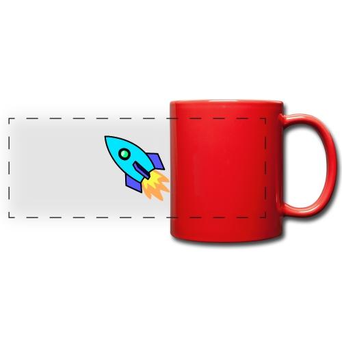 Blue rocket - Full Color Panoramic Mug