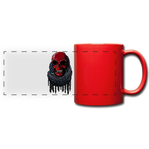 RED Skull in Chains - Full Color Panoramic Mug