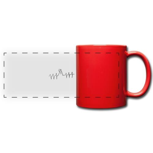 mountain heartbeat - Tazza colorata con vista