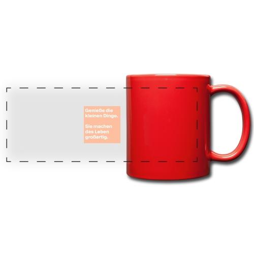 Sprüchekleidung - Panoramatasse farbig