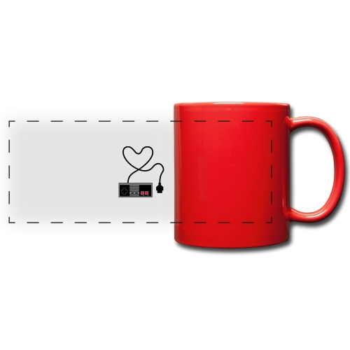 NES Controller Heart - Full Color Panoramic Mug
