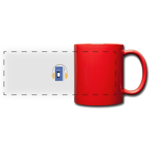 Stereo walkman in blue - Full Color Panoramic Mug