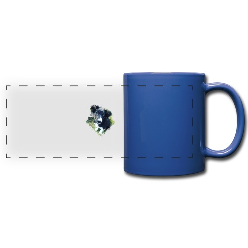 colliegermanshepherdpup - Full Color Panoramic Mug