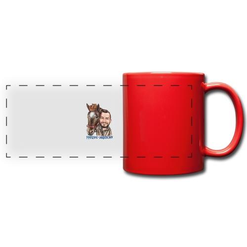 Pferde-Hoschi Kollektion hinten - Panoramatasse farbig