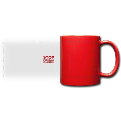 Stop Fussball Chaoten - Panoramatasse farbig