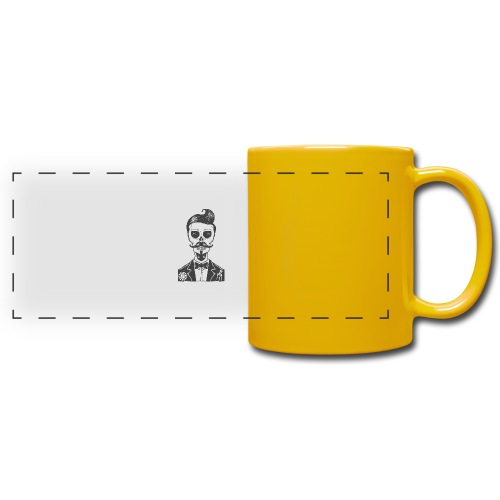 RT Skull Gentleman - Panoramatasse farbig