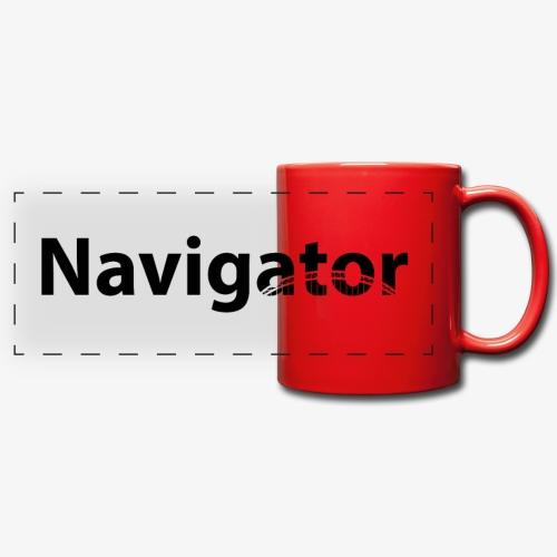 Navigator zwart merch - Panoramamok gekleurd
