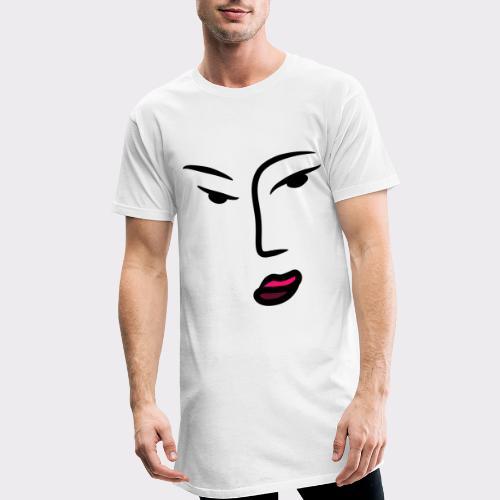 Frau Line Art Abstrakte Kunst - Männer Urban Longshirt
