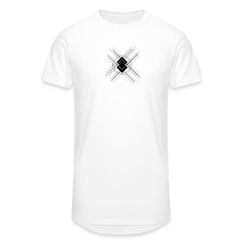 SicHat - TechLogo White Edition - Männer Urban Longshirt