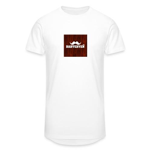 logo bartebyen buttons - Urban lang T-skjorte for menn