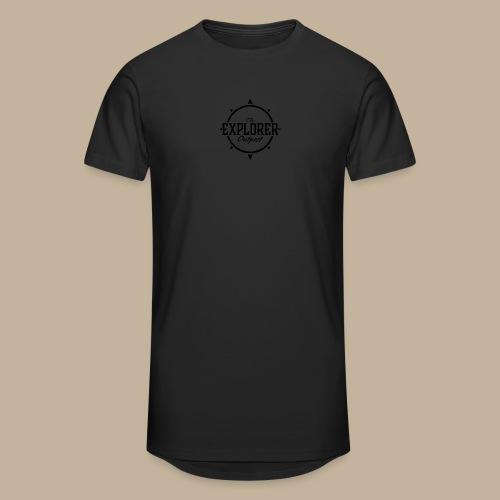 Black TEO Logo - Men's Long Body Urban Tee