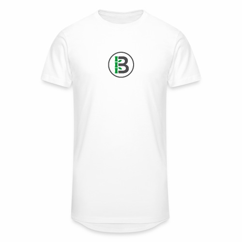 Biomboo Logo Circle Charcoal - Men's Long Body Urban Tee