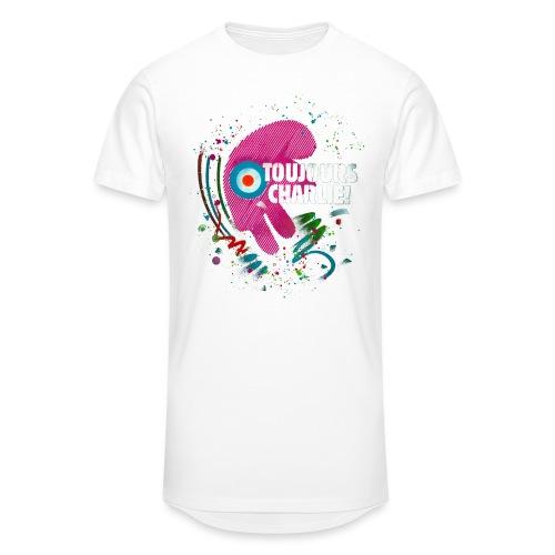 Toujours Charlie interprété par l'artiste C215 - T-shirt long Homme