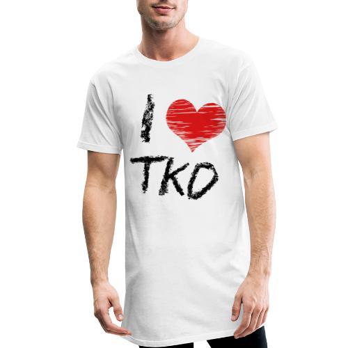 I love tkd letras negras - Camiseta urbana para hombre