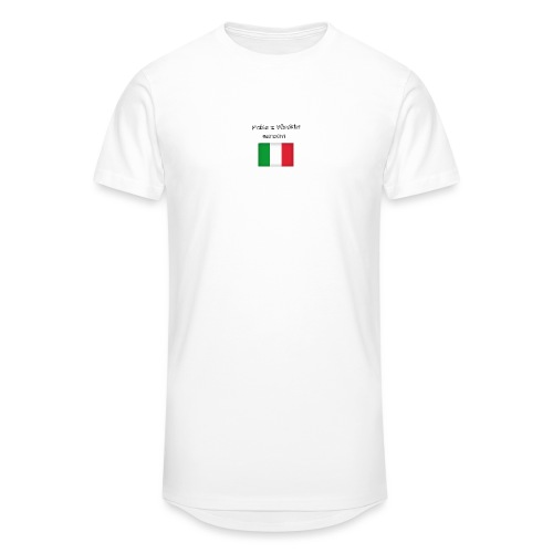 Włosko-polska - Długa koszulka męska urban style