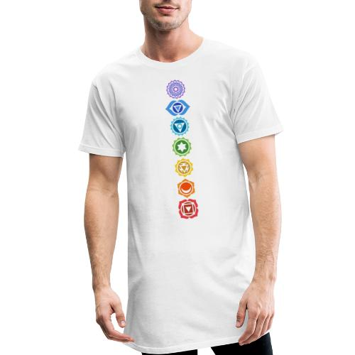 The 7 Chakras, Energy Centres Of The Body - Men's Long Body Urban Tee
