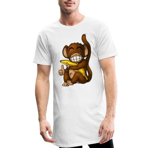 Super Fröhlicher Affe - Männer Urban Longshirt