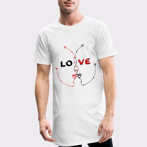 LOVE MINIMALISTIC LineART Valentinstaggeschenke - Männer Urban Longshirt