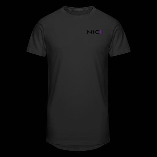 NICI logo Black - Miesten urbaani pitkäpaita