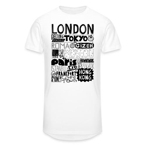 Villes du monde - T-shirt long Homme