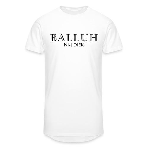 BALLUH NI-J DIEK - wit/zwart - Mannen Urban longshirt