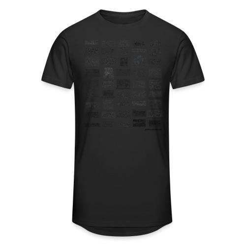 Synth Evolution T-shirt - White - Men's Long Body Urban Tee