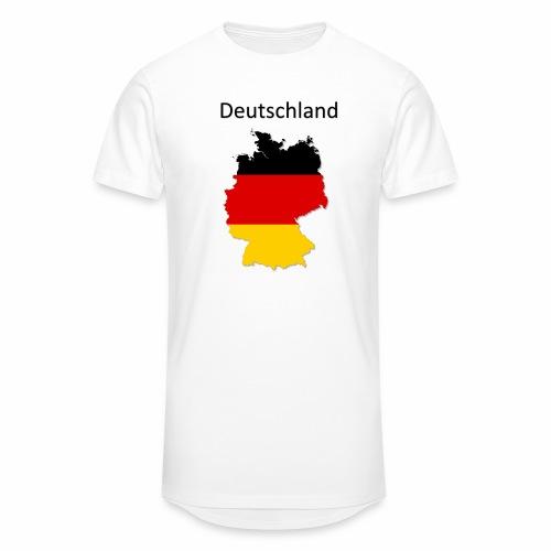 Deutschland Karte - Männer Urban Longshirt