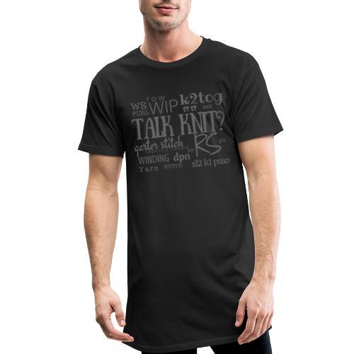 Talk Knit ?, gray - Men's Long Body Urban Tee
