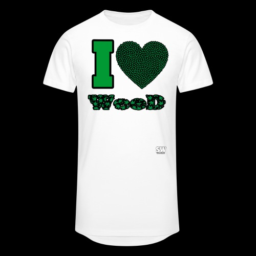 I Love weed - T-shirt long Homme