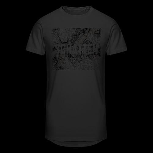 Hoehenlinien schwarz Schatten - Männer Urban Longshirt