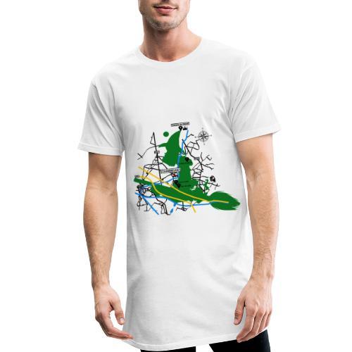 Bois de Stambruges (Plan) - T-shirt long Homme