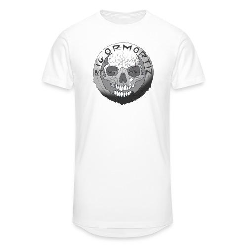 Rigormortiz Black and White Design - Men's Long Body Urban Tee