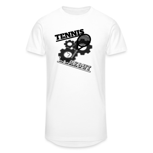 TENNIS WORKOUT - Men's Long Body Urban Tee
