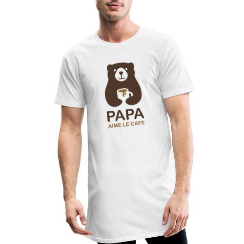 Papa aime le café - T-shirt long Homme