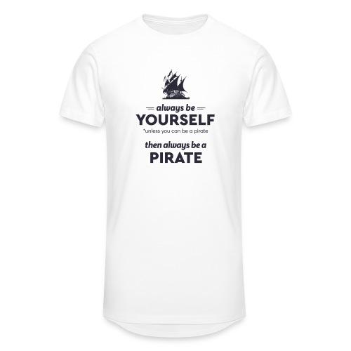 Be a pirate (dark version) - Men's Long Body Urban Tee