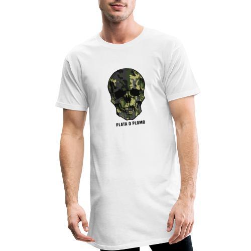 Colombian skull - plata o plomo - Männer Urban Longshirt