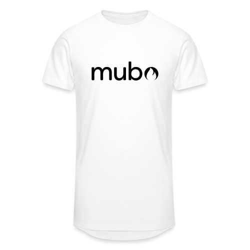 mubo Logo Word Black - Men's Long Body Urban Tee