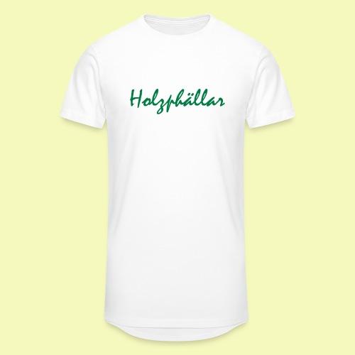 Schriftzug Grün - Männer Urban Longshirt