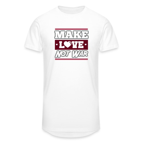 Make_love_not_war by Lattapon - Herre Urban Longshirt