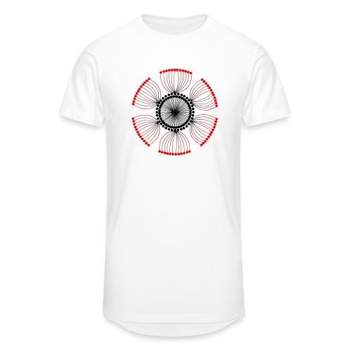 Red Poppy Seeds Mandala - Men's Long Body Urban Tee
