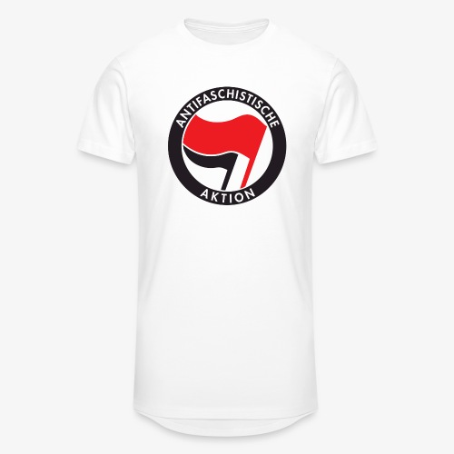 Atnifaschistische Action - Antifa Logo - Men's Long Body Urban Tee