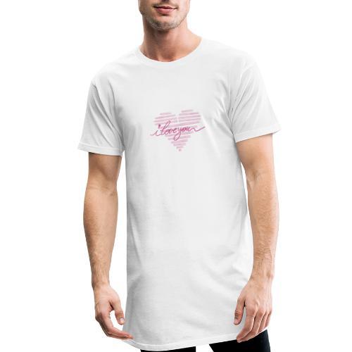 In kalk letters - T-shirt long Homme