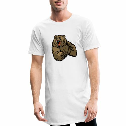 méchant grizzli - T-shirt long Homme