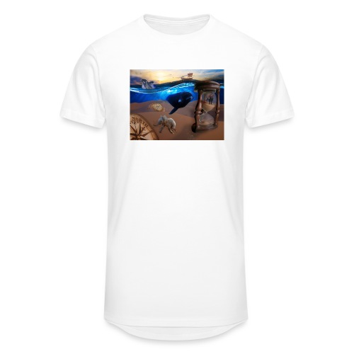 Wodne Przemyślenia - Długa koszulka męska urban style