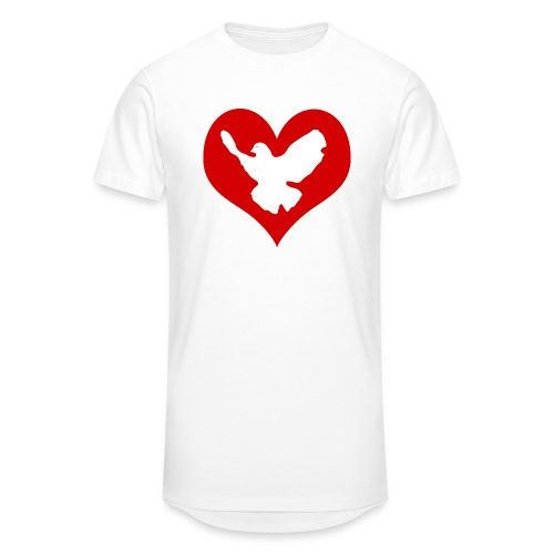 Peace & Love - Männer Urban Longshirt
