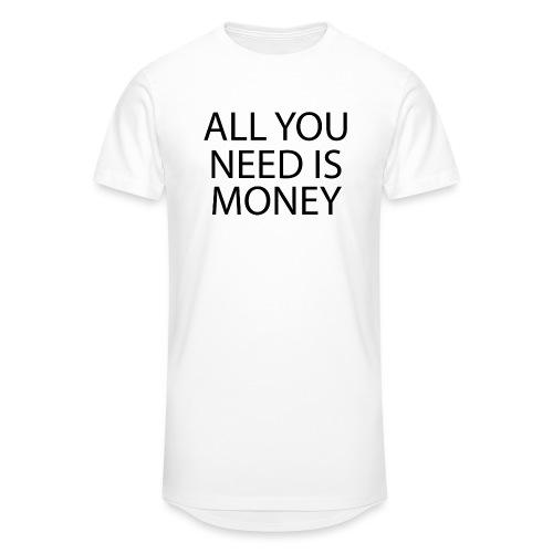 All you need is Money - Urban lang T-skjorte for menn