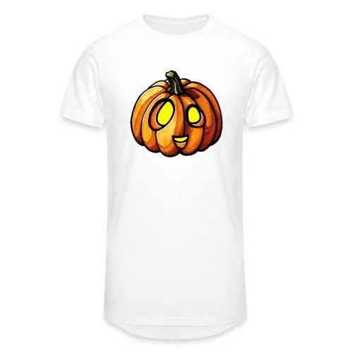 Pumpkin Halloween watercolor scribblesirii - Herre Urban Longshirt